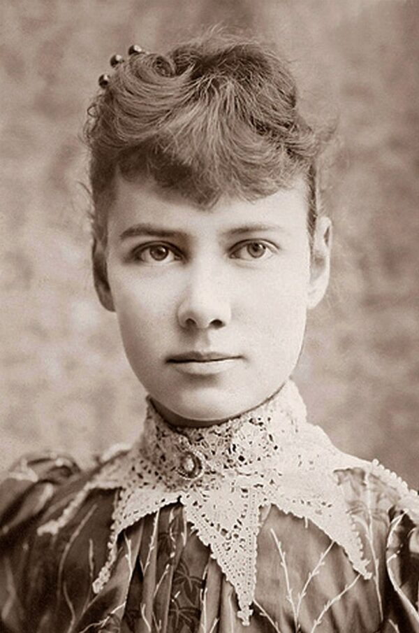 Nellie Bly, photo H. J. Myers, vers 1890 (source: the United States Library of Congress)
